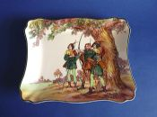 Royal Doulton Under the Greenwood Tree Series 'Robin Hood, King of the Archers' Slice Tray c1949